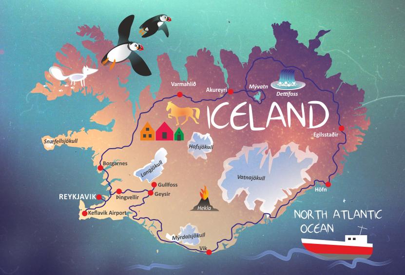 9 Day Tour Around Iceland Js Kria Travel